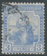 Trinidad & Tobago. 1921-22 Britannia. 3d Used. Mult Script CA W/M. SG 211 - Trinidad & Tobago (...-1961)