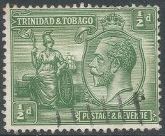 Trinidad & Tobago. 1922-28 KGV. ½d Used. Mult Script CA W/M. SG 218 - Trinidad & Tobago (...-1961)