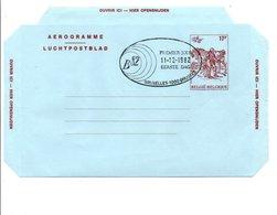 BELGIQUE AEROGRAMME 1 ER JOUR 1982 - Stamped Stationery