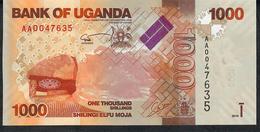 UGANDA  P49 1000 SHILINGI  2010  LOW # AA0047635   UNC. - Ouganda