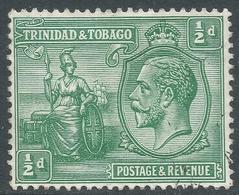 Trinidad & Tobago. 1922-28 KGV. ½d MH. Mult Script CA W/M. SG 218 - Trinidad & Tobago (...-1961)