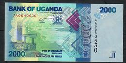 UGANDA  P50 2000 SHILINGI  2010  LOW # AA0040630   UNC. - Ouganda