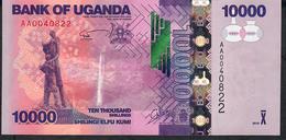 UGANDA  P52 10.000 SHILINGI  2010  LOW # AA0040822  UNC. - Ouganda
