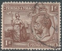 Trinidad & Tobago. 1922-28 KGV. 1d Used. Mult Script CA W/M. SG 219 - Trinidad & Tobago (...-1961)