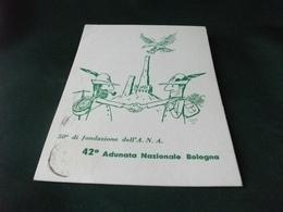 ASSOCIAZIONE NAZIONALE ALPINI 50° FONDAZIONE A.N.A. 42° ADUNATA NAZIONALE BOLOGNA ILLUSTRATORE ABBATI 69 PIEGA ANG. - Reggimenti