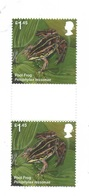 Great Britain 2018  - 2 Same Stamps -- Gutter-paar, MNH - Frogs