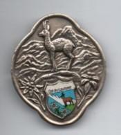 Insigne Marche Randonnée/ Écusson Souvenir De Canne De Marche/Col Du LAUTARET/Chamois/Vers 1950-70    MED265 - Deportes