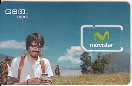 PERU - Man On Phone, Movistar GSM, Mint - Peru