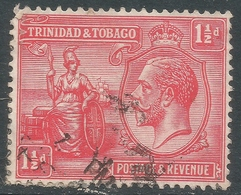 Trinidad & Tobago. 1922-28 KGV. 1½d Used. Mult Script CA W/M. SG 220 - Trinidad & Tobago (...-1961)