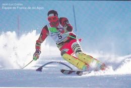 SPORTS D'HIVER--JEAN LUC CRETIER--équipe De France De Ski Alpin---voir 2 Scans - Winter Sports