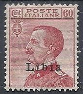 1917-18 LIBIA EFFIGIE 60 CENT LUSSO MH * - RR12303 - Libye