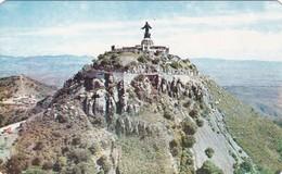 CRISTO REY EN EL CERRO DEL CUBILTE. SILAGO, GTO. CIRCA 1965. MEXICO- BLEUP - Mexico
