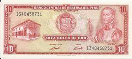 PEROU 10 SOLES DE ORO 1973 UNC P 100 C - Pérou