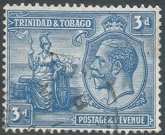 Trinidad & Tobago. 1922-28 KGV. 3d Used. Mult Script CA W/M. SG 223 - Trinidad & Tobago (...-1961)