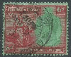 Trinidad & Tobago. 1922-28 KGV. 6d Used. Mult Script CA W/M. SG 226 - Trinidad & Tobago (...-1961)