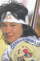 SPORTS D'HIVER--NATHALIE BOUVIER---équipe De France De Ski Alpin---voir 2 Scans - Winter Sports