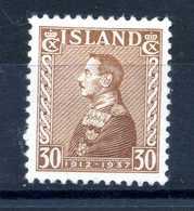 1937 ISLANDA N.165 * - 1918-1944 Amministrazione Autonoma