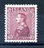 1937 ISLANDA N.166 * - Nuovi