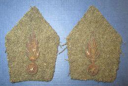 Paire De Pattes De Col Officier M39 France 40 - 1939-45