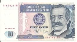 PEROU 10 INTIS 1987 UNC P 129 - Pérou