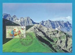 Liechtenstein  2010  Mi.Nr. 1545 , Freiwillige Aktivitäten Bergrettung (III) - Maximum Card - Ersttag  1.März 2010 - Cartas Máxima