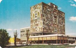 BIBLIOTECA CENTRAL, MOSAICO MURAL DE JUAN O'GORMAN. CIUDAD UNIVERSITARIA, ED ALDUCIN CIRCA 1965. MEXICO- BLEUP - Mexico