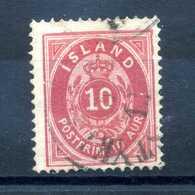 1876 ISLANDA N.8 USATO - 1873-1918 Dipendenza Danese