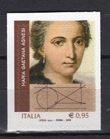 2018 -  Italia - Maria Gaetana Agnesi -  Mint - MNH - 1946-.. République