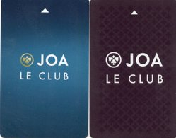 2 CARTES DE CASINO *JOA Le Club  FRANCE - Casino Cards