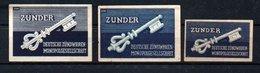 Czechoslovakia Matchbox Labels - Zunder, 1941. - Boites D'allumettes - Etiquettes
