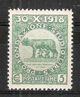 1919 FIUME PLEBISCITO 5 CENT MNH ** - RR7597-2 - Fiume
