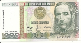 PEROU 1000 INTIS 1988 UNC P 136 B - Pérou