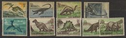 San Marino 1965 Dinosaurs 9v ** Mnh (gum Partly Brown) (40542) Promo - San Marino