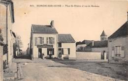 77 - SEINE ET MARNE / Samois Sur Seine - 776969 - Place Saint Hilaire Et Rue De Barbeau - Samois
