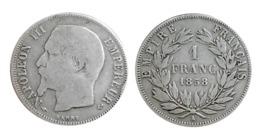 NAPOLÉON III 1 Franc Tête Nue 1858 A (Paris) A VOIR!!! - Frankrijk