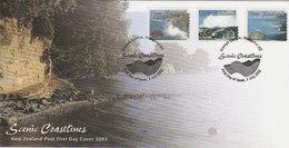 New Zealand 2002 Scenic Coastlines 40c,90c $ 1.50   FDC - FDC