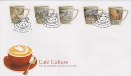 New Zealand 2005  Cafe Culture,FDC - FDC