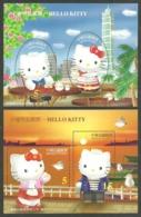 CHINA TAIWAN 2004 HELLO KITTY CATS BIRDS CARTOONS SET OF 2 M/SHEETS MNH - 1945-... Republic Of China