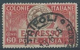 1923 LIBIA USATO ESPRESSO 60 CENT - RR4352 - Libya