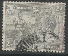 Trinidad & Tobago. 1922-28 KGV. 2d Used. Mult Script CA W/M. SG 222 - Trinidad & Tobago (...-1961)