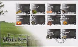 New Zealand 2007 Classic Kiwi,FDC - FDC