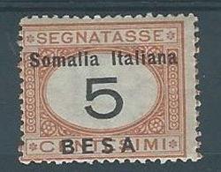 1923 SOMALIA SEGNATASSE 5 B MH * - RR12781 - Somalia