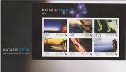 New Zealand 2008 Matariki Miniature Sheet FDC - FDC