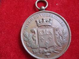 Médaille Souvenir Ville De VERSAILLES/ Grand Concours International De Musique/1881             MED289 - Altri Oggetti
