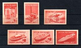 Czechoslovakia Matchbox Labels - Detem Pro Radost / Hracky 'Igla' -  Red - Matchbox Labels