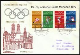 Germany Bonn 1972 / Olympic Games Munich / Long Jump, Basketball, Discus Throw, Canoeing / FDC - Ete 1972: Munich