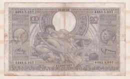 Belgique 100 FRANCS / 20 BELGAS  30. 07. 1938. - 100 Francs & 100 Francs-20 Belgas
