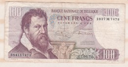 Belgique 100 FRANCS  14. 06. 1972 - [ 2] 1831-... : Royaume De Belgique