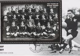 New Zealand 2010  100 Years Of Maori Rugby,miniature Sheet,FDC - FDC