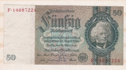 Allemagne . 50 Reichsmark 1933 - [ 3] 1918-1933 : República De Weimar